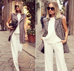 Silvia P. - Guess? Vest, Stradivarius Pants, Dkny Watch, Zerouv Sunnies, Chanel Purse, Zara Top - Via della Spiga