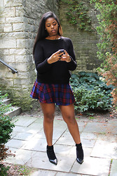 Simedar - Topshop Knit Sweater, Forever 21 Mini Skirt, Topshop Fringe Socks - Not Your Average Schoolgirl