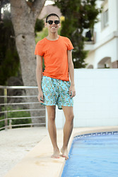 Andrés Barreto - Zerouv Sunglasses, H&M T Shirt, Tennis Swimsuit - LAST SUMMER LOOK!