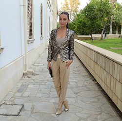 Melina Vou - Mango Sequined Jacket, Melina Vou Tailored Trousers - Wedding Bells