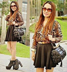 Julie Lozada - Top, Pink Fashion Skirt, Shoes, Milanoo Bag - Leopard