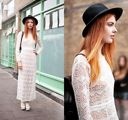 Ebba Zingmark - Beara Backpack, 2hand Hat, Borrowed From Elle May Leckenby Dress - Hackney market - London