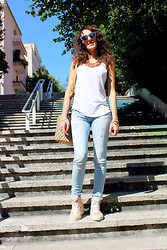 Le Balzi . - Stradivarius Ripped Jeans, Gucci Bag, Hogan Snakers - Ripped jeans