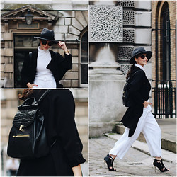 Jasmin - Catarzi Hat, Uniqlo Turtleneck, Reiss Backpack, H&M Coat, Zara Trousers, Forever 21 Heels - Always On The Run