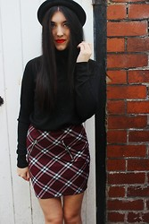 Stacey Joanne Marie Ford - Boohoo Hat, Primark Polo Neck, New Look Skirt - Clueless