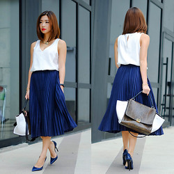 Kryz Uy - Wagw Skirt - No Fail Navy