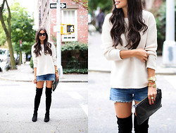 Kat Tanita - Forever 21 Sweater, Stuart Weitzman Boots - Over the Knee Boots