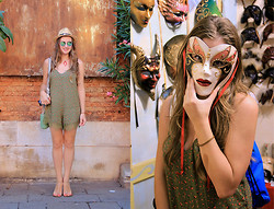 NUR ERADLI - Pull & Bear Jumpsuit - Eyes Wide Shut in Venice