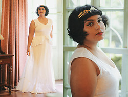 Ragini R - Raues Bella Dress, Eclectic Eccentricity Athena Leaf Crown - No, i didn't get married