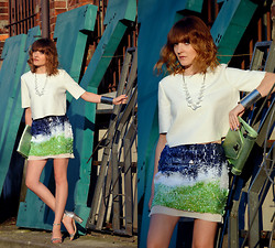 EWELYN D. - Zara Skirt, Zara Blouse - Sequin skirt with an ombre effect