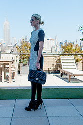 Yael Steren - Tibi Dress, Chanel Purse, Burberry Ankle Boots, Spanx Opaque Tights, Cartier Watch - Must-Have: Opaque Tights