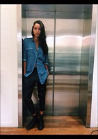 Arlissa Ruppert - Asos Tencel Denim Shirt, Adidas Faux Leather Trackies, Dr Marten Matt Black Boots - The comfiest denim shirt