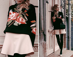 Tini Tani - Love Republic Sweater, Love Republic Skirt, Love Republic Bag - Pink & black
