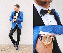 G R - Ego Bow Tie, Saint Laurent Yves Camani, Loro Piana, Loius Purple Pants, Nedelcu Marian Shoes - Wedding #4