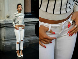 Karima A. - Ripped Jeans - White love