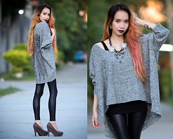 Wicked Ying NEW - Lookbook Store Batwing Sweater - Sweater Leather