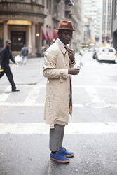 STEVEN ONOJA - Creative Recreation Footwear, Club Monaco Trouser, Brett Johnson French Coat - October 10, 2014
