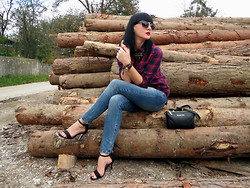 Vesna Cvetka - Pimkie Plaid Blouse, Gap Jeans, Zara Necklace, Mango Sunnies, Michael Kors Watch, Ops! Bracelet, Next Sandals, Michael Kors Bag - A lil' bit country
