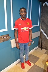 Mohammed Bappa - Manchester United Jersey, Zara Jeans, Nike Airmax Independence Day, G Shock, River Island Bracelets - I was playing, I aint realise I was winning.
