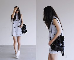 Gabriela Araujo - H&M Sunnies, Oasap Eye Sleeveless Dress, Yesfor Leather Backpack, Sammydress Platform - Supersoaker