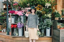 Dorothy Chang - Knit Top, Margot Bag - Floria