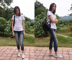 Candrea Y - Mango Boyfriend Jeans, Converse Sneakers - I Shot the Sheriff x Eric Clapton