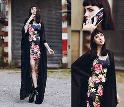 Jane Dean - Phone Case, Dress, Black Milk Clothing Cardigan - FL0WERP0WER.