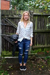 Beth Spooner - Zara Silk Shirt, Topshop Ripped Jeans, Asos Plimsolls - Up, Up and Away