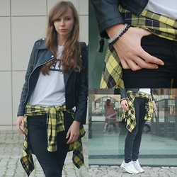 Natalia Paszkowska - Romwe Jacket, Nn Shirt, River Island Jeans, Nike Air Max, Nn Shirt - Checked shirt