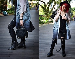 Sharley L. - Dr. Martens Laced Boots, K Star Punk Pants - Odd One Out