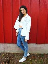Bárbara Cea - Eddie Bauer Jacket, Forever 21 Top, Forever 21 Jeans, Converse Sneakers - NEW POST!