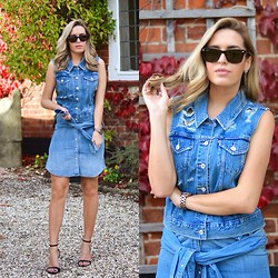 Camila Carril - Levi's® Vest, Levi's® Skirt - All Denim Say I Do