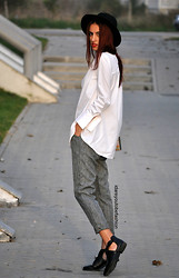 I dare you To be fashion - Oasap Pants - White shirt