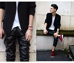 StreetFashion101 - Zara Pants, New Yorker Tshirt, Ferro Blazer, Deichmann Sneakers - Serbia Fashion Week Day 1