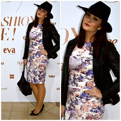 Simply Nina - Warehouse Top + Skirt, Michael Kors Shoes, Chanel Bag, Catarzi Hat, Muuba Leather Jacket - Fedora Hat