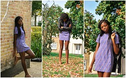 The LongLimbedLady Oguntula - Topshop Leather Jacket, Frontrowshop Shift Dress - Shift dress