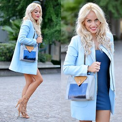 Eleonora Petrella - Tjewels Rings, Sheinside Baby Blue Coat - Transitional