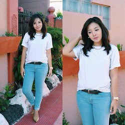 Anne Klein - Cotton On Basic White Tee, Forever 21 Blue Jeans - The Basics.