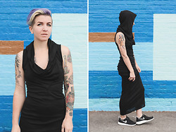 Jessie Barber - H&M Hooded Maxi Dress, Nike Roshe Run - Grim Reaper