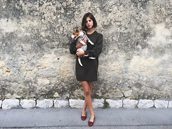Alizée Gamberini - H&M Wool Dress, American Apparel Dog Sweat, Repetto Ballerinas - Jack is my name