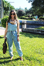 Laura Bustelo - Cole Haan Sunglasses, Bcbg Scarf, Forever 21 Jumpsuit, Miu Bag, Tory Burch Shoes, Michael Kors Watch - Fall For the Weekend