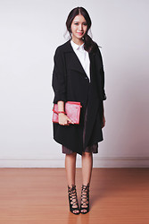 Tricia Gosingtian - Murua Coat, Murua Skirt, Sm Woman Top, Sm Accessories Clutch, The Sm Store Heels - 101514-2