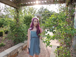 Emily - Forever 21 Thin Detailed Dress, Urban Outfitters Head Chain, H&M Cardigan/Vest - The sun was high and so was I