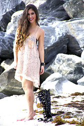 Laura Bustelo - Victoria's Secret Bikini, Agaci Shoes - Fish-Net-Dress