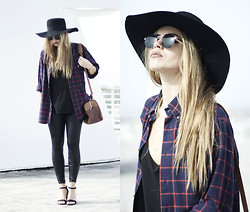 Inês M - Bf Shirt, H&M Hat, Zara Shoes, Asos Sunglasses - Skartchez