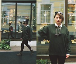 Sasha Raduntseva - C&A Hat, Pierre Cardin Jumper - Love Is Blindless