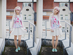 Natalie Elmo Feo - Vans Sneakers, Romwe Sweater, Chic Wish Skirt - I love you,Jena!