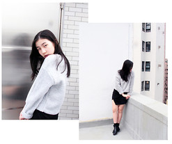 Pearl Li - Topshop Sweater, Topshop Skirt - IN A CLOUD