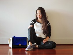 Kimberly Kong - Deb Top, Adriano Goldschmied Ag Jeans Pants, Steve Madden Shoes, The Quiet Riot Bag - Moments of Chic