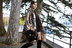 Elvira Abasova - Burberry Poncho - SHE TAKES A WALK